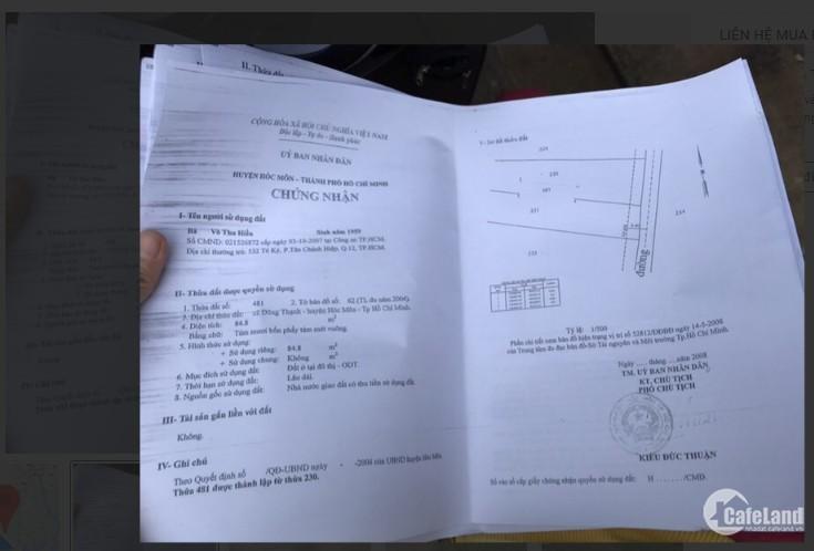 Thanh lý gấp lô đât  931.6m² tại đường Huỳnh Thị Na, Hóc Môn, SHR.