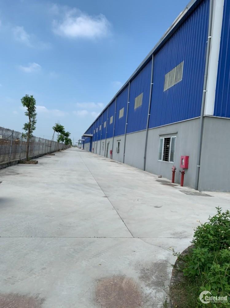 Cho thuê nhà xưởng tại Phố Nối , DT 2300m2, PCCC tự động, bàn giao xưởng ngay.