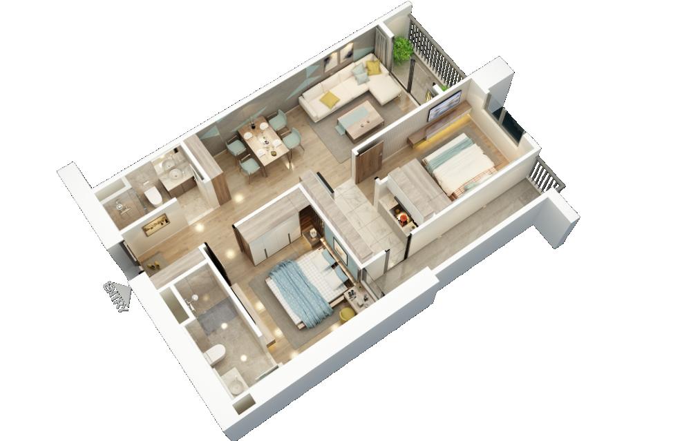 Căn hộ BID Residence Văn Khê, giá chỉ từ 1,8 tỷ, hỗ trợ ls 0% đến khi nhận nhà