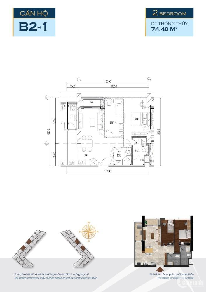Căn hộ chuẩn Nhật The Minato, Q. Lê Chân, 74,4m2, tầng 10