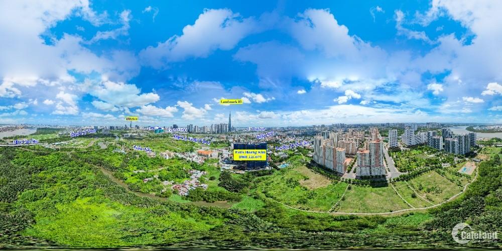 Bán căn hộ 57m2 Paris Hoàng Kim 2 PN thanh toán 1,4 tỷ nhận nhà ngay