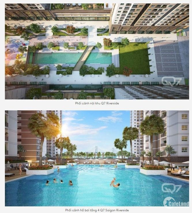 Căn hộ Q7 Saigon Ven sông, liền kề PMH, Giá 2.2 tỷ/ 2PN, 67m2, 2022 nhận nhà