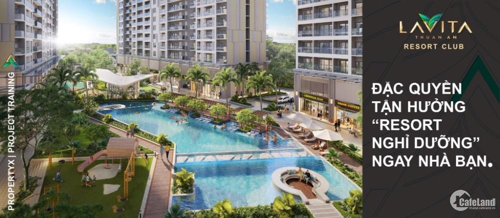 Bán căn hộ mặt tiền QL13, giá chỉ 32tr/m2. Vay NH 70% lãi suất 0% LH 0903239035