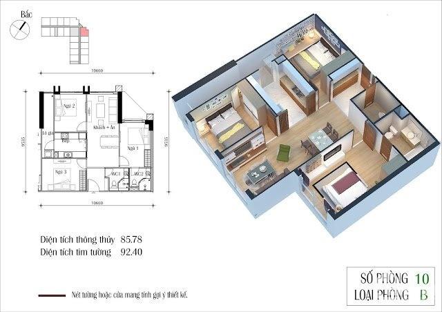 Bán căn Góc Siêu hot, 810 CT2, 92.4m2, 3PN, Eco Green City, Nguyễn Xiển