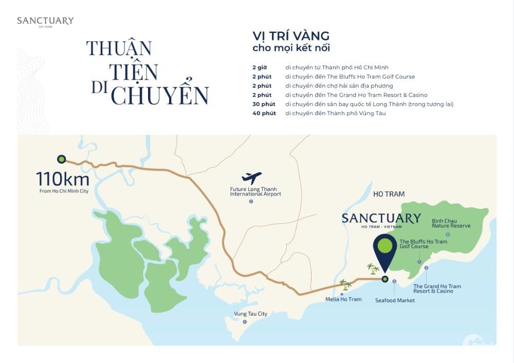 Chỉ 6,5 tỷ sở hữu ngay căn villa biển Sanctuary Hồ Tràm, nhận nhà vào ở ngay