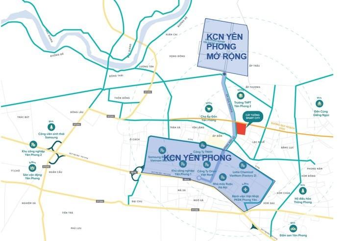 Shophouse Cát Tường Smart City vị trí vàng đắc địa cạnh khu CN Samsung Bắc Ninh.