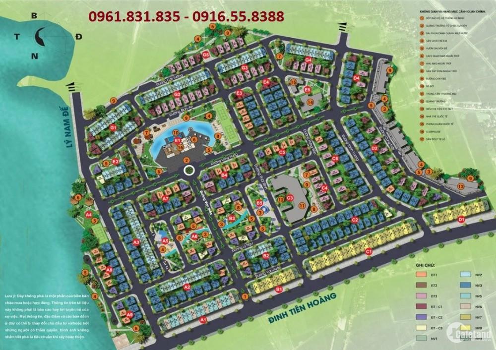 Bán BT đường 22m sổ đỏ không phải xây dựng KDT Times Garden City Vĩnh Yên