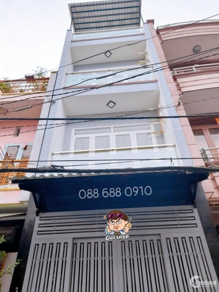 6.6 tỷ - 36m2 – 4 tầng - Hẻm xe hơi vào nhà – Hồng Bàng Quận 11 - 0886880910