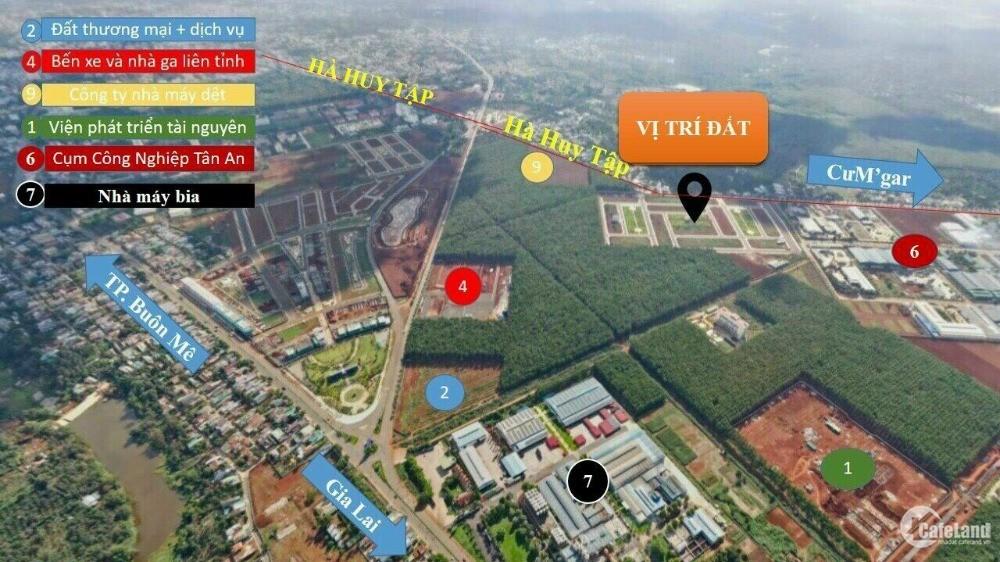 Đất nền sổ đỏ Khu Đô Thị Ân Phú T.tâm hành chính mới tp Buôn Ma Thuột