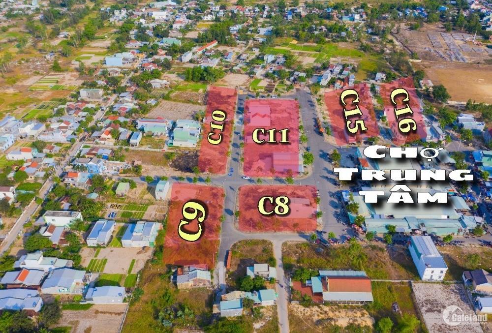 Đất nền khu phố chợ Điện Nam Trung . Giá từ 16.5tr/m2 . Sổ đỏ từng lô