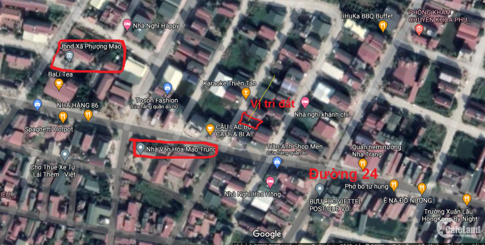 Đất 90m2 đường 24 Quế Võ Bắc Ninh. Xung quanh đã kinh doanh hết rồi
