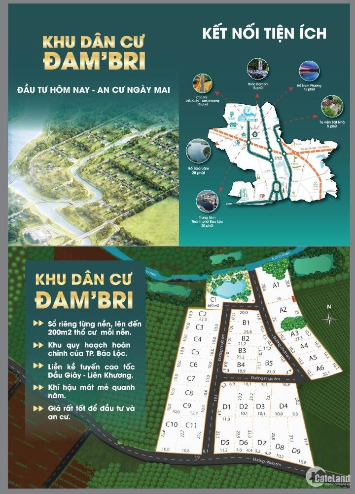 Đất nền sổ đỏ Bảo Lộc có 200m2 thổ cư , cam kết 10% sau 3 tháng.