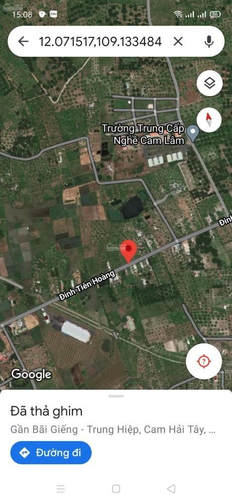 Bán đất 2 lô liền kề mặt tiền Đinh Tiên Hoàng nối dài Cam Lâm. Lh: 0909277255