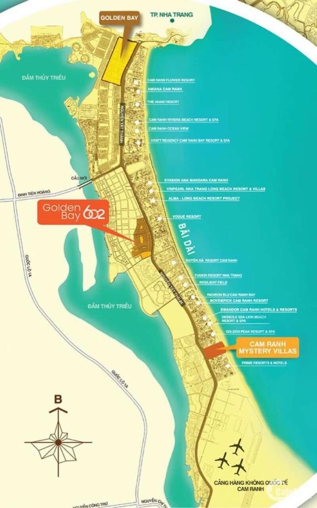 Đất nền Cam Ranh Golden Bay 602, CĐT Hưng Thịnh, 18 triệu/ 108m2, SH lâu dài