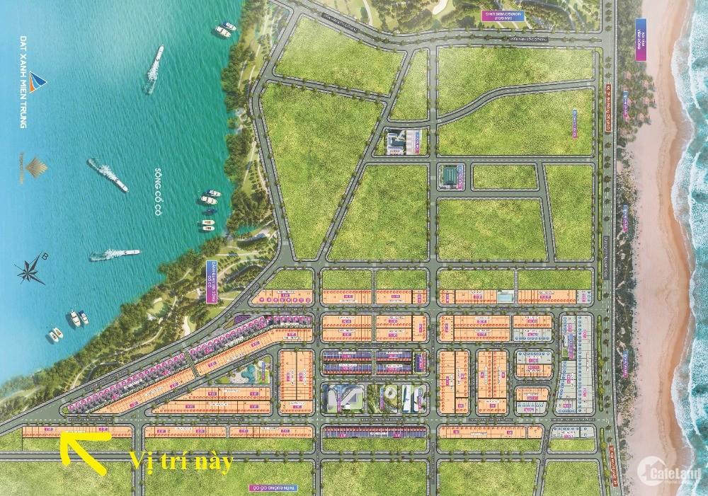 Đất nền Nam Đà Nẵng, đường 10m5, view sông Cổ Cò, giá 2ty4