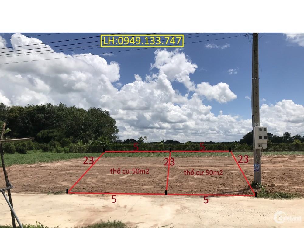 Đất gần KCN Hiệp Thạnh giá công nhân cho nhà đầu tư lh 0949133747