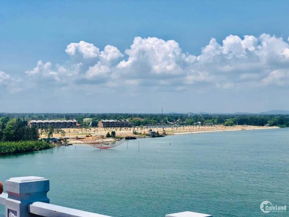 Nhượng lại gấp lô góc 2 mặt tiền, view sông, khu đô thị Nam Hội An City
