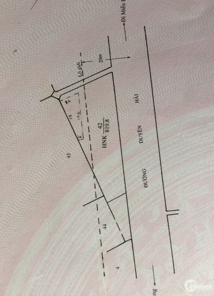 BÁN ĐẤT MT DUYÊN HẢI  - 820M2 – 35 TỶ– TT CẦN THẠNH CẦN GIỜ