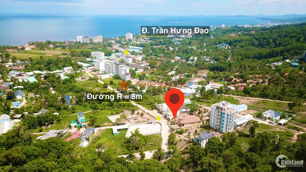 Chủ cần tiền bán mảnh đất xây khách sạn, biệt thự tại Trần Hưng Đạo TP Phú Quốc