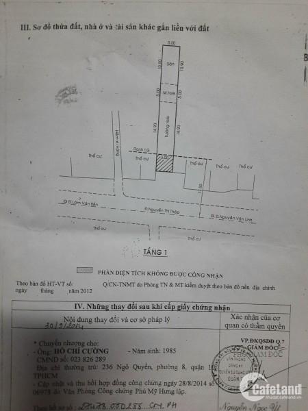 đất trống 154 nguyễn thị thập phường bình thuận Q7. dt 5x31m + 34ty