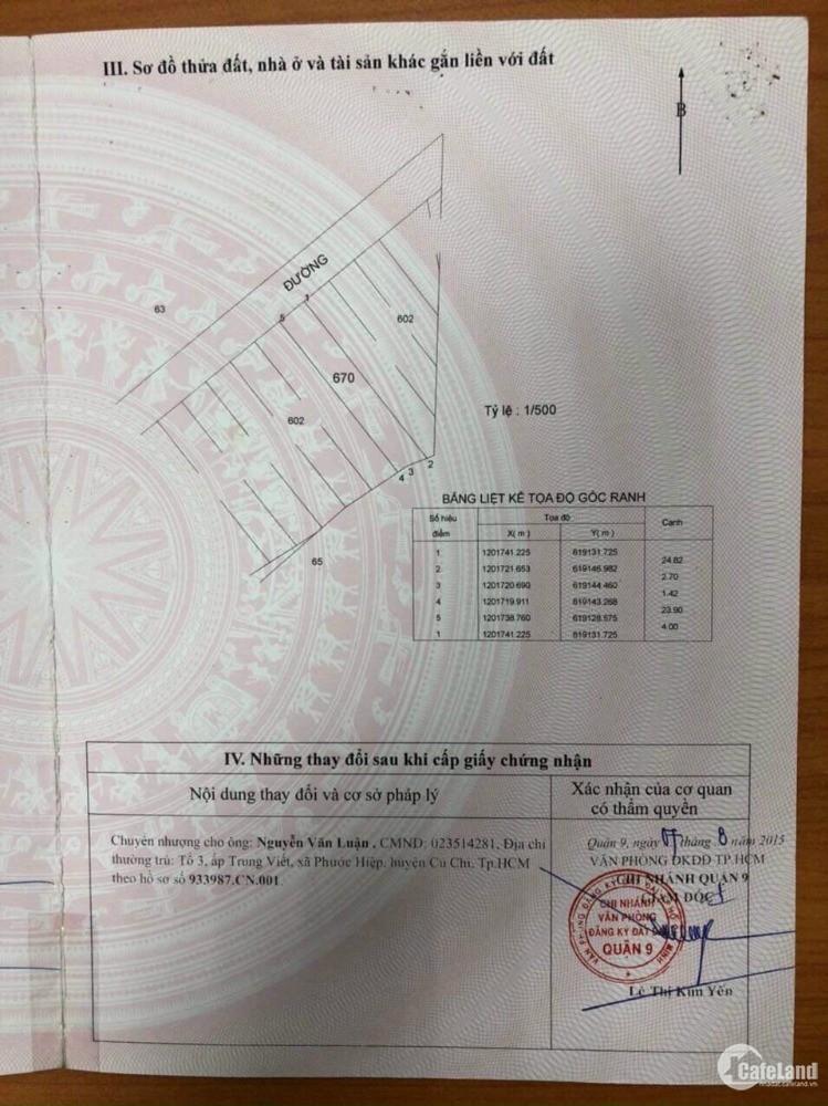 Bán đất quận 9 phường Long Bình gần vinhomes grand park quận 9
