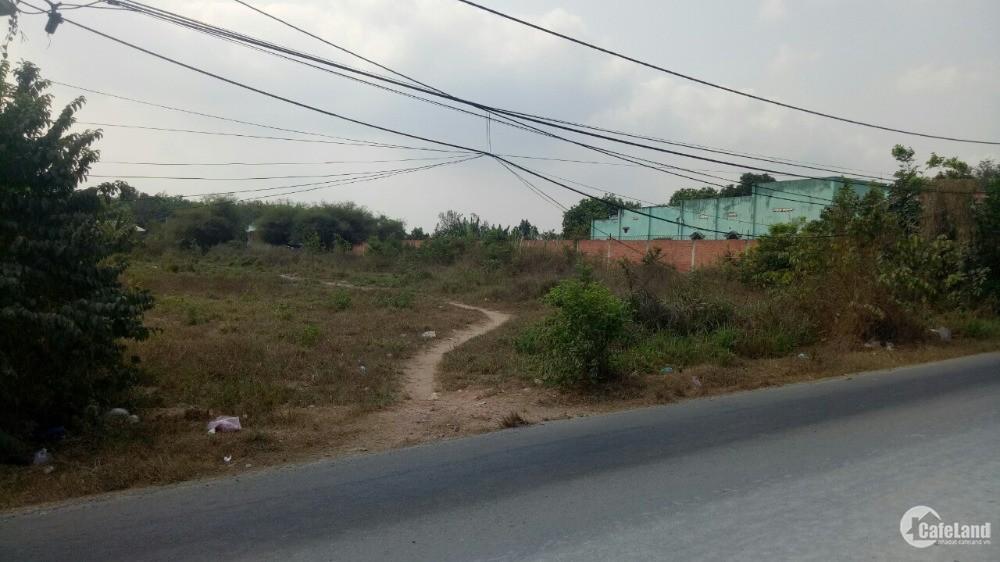 Đất Lớn làm kho xưởng mặt tiền đường bàu lách Củ Chi 40x72