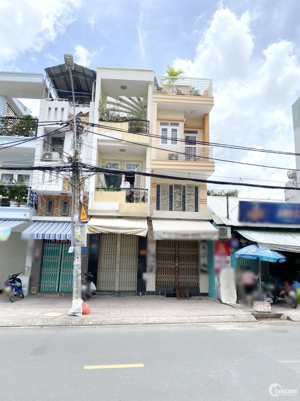 Nhà bán (3*16m, nở hậu 6m) mặt tiền Hưng Phú F8 Q8