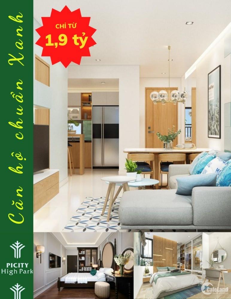 Thanh toán trước 30% sở hữu ngay căn hộ cao cấp chuẩn Xanh trung tâm quận 12