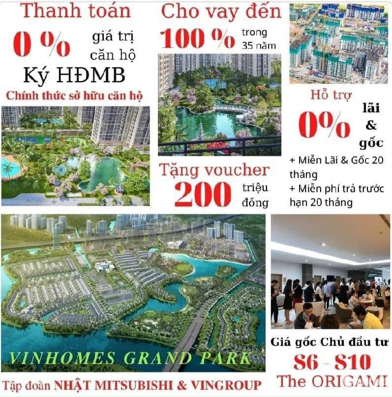 Siêu Phẩm Origami, giao nhà 12/ 2021,HT vay 100% ở 11 tháng mới trả lãi