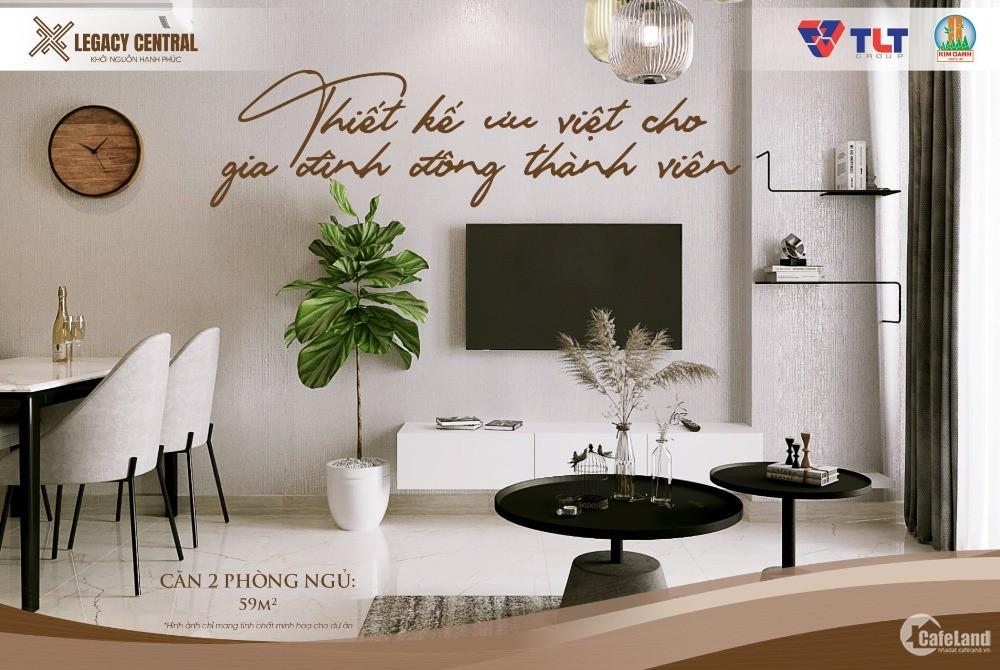 TT 400 Triệu sở hữu căn hộ 2PN2WC ngay TT Thuận An, full nội thất cao cấp