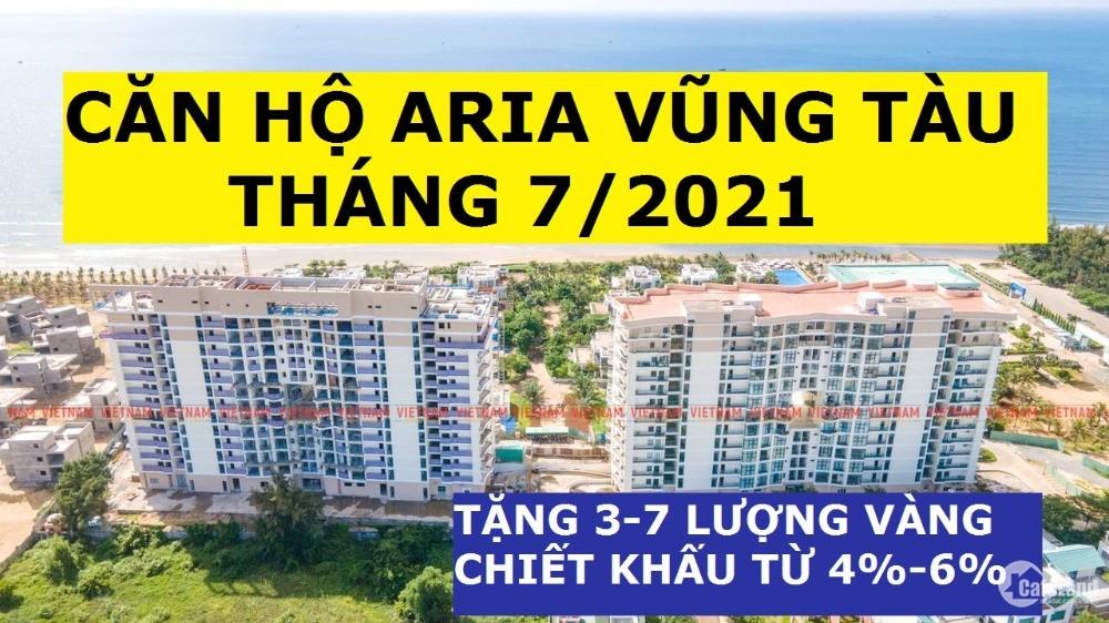 Aria Vũng Tàu 2PN-85m2, Tầng 8, Giá 2.6 tỷ, Chiết khấu 6%, Tặng 3 Lượng Sjc