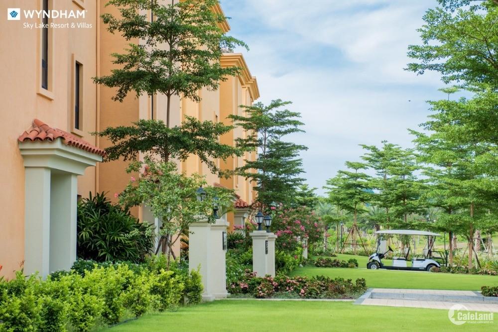 Bán biệt thự sân golf 300m2 full nội thất duy nhất tại Hà Nội dự án Wyndham Sky