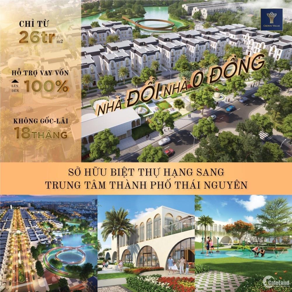 Crown Villas - Căn hộ cao cấp TP Thái Nguyên