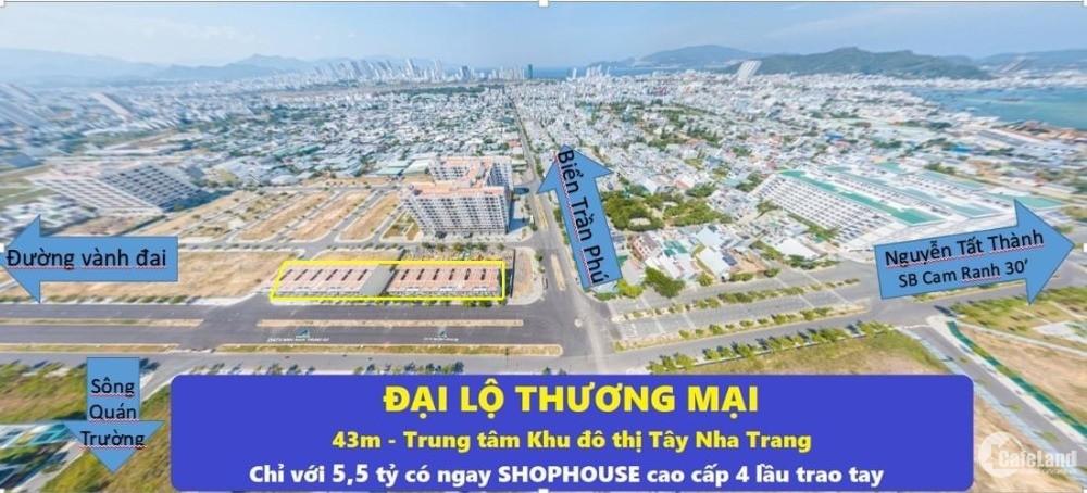 Nhanh tay sỡ hữu 10 căn shophouse 4 tầng trung tâm NHa Trang với giá cực tốt