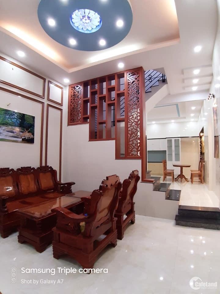 Siêu phẩm 4 tầng sau căn mặt tiền P.14,GV:đường 10m,full nội thất,giá rẻ
