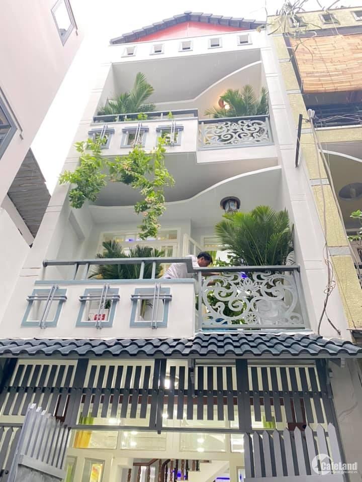 Nhà 4 tầng cực đẹp,full nội thất,HXH Phạm Văn Chiêu P.14,Gò Vấp,giá mùa dịch
