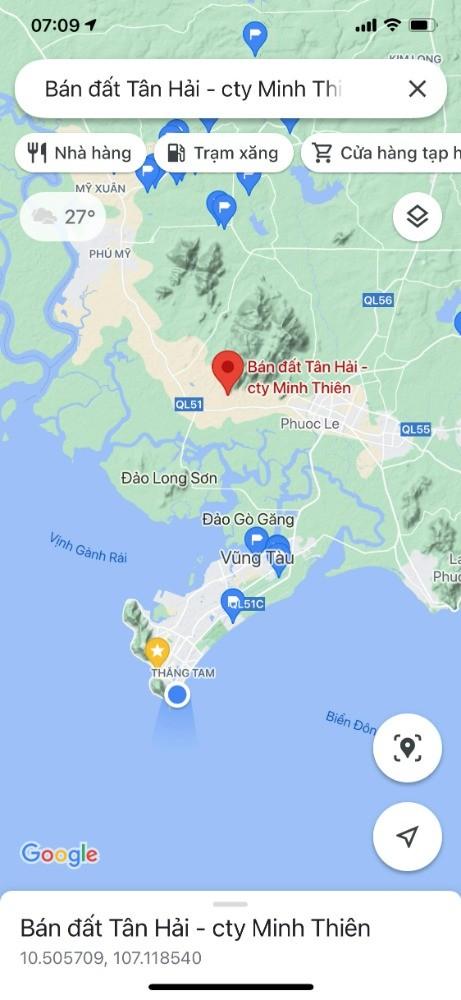 Đất Phú Mỹ ( NỞ HẬU ) , đất chân núi Dinh, đất Tân Hải - Vũng Tàu