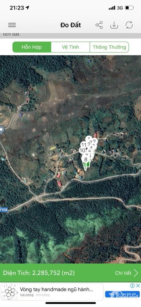 Lô đất khoảng 2000m2 mặt tiền rộng 20m, nằm trong thôn Nhìu Cồ San (Mò Phú Chải)