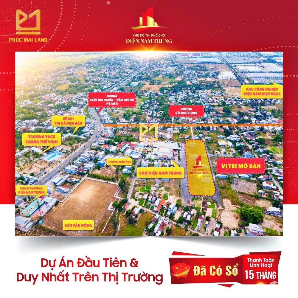tâm điểm an cư - đầu tư phát triển đất nền phố chợ Nam Đà Nẵng
