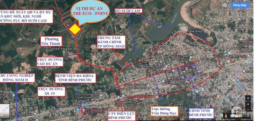 Đất nền ngay trung tâm thành phố 7 triệu/m2, sang sổ ngay, mua đã lời 200tr/nền.