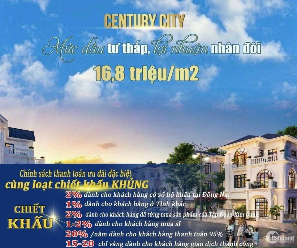 CENTURY CITY SÂN BAY LONG THÀNH, SỔ ĐỎ RIÊNG,  CAM KẾT SINH LỜI 18 %