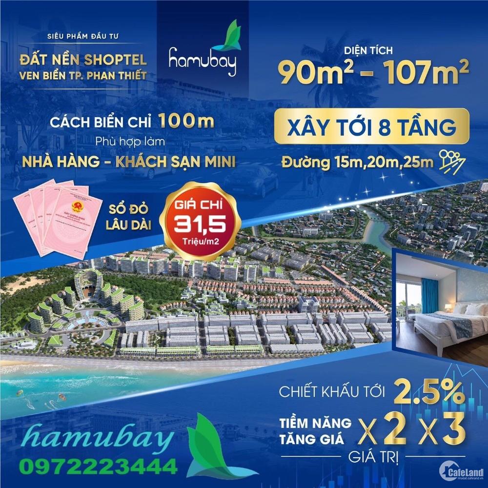 Suất nội bộ 4 lô giá gốc CDT - Dự án KĐT biển Hamubay
