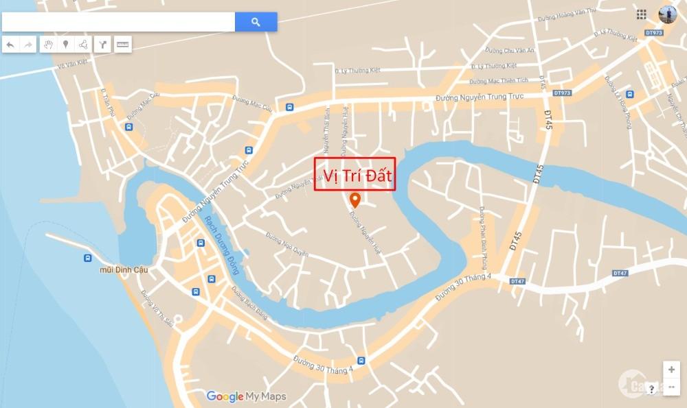 Bán mảnh đất mặt tiền đường Nguyễn Huệ Phú Quốc cách quảng trường Bác Hồ 1km