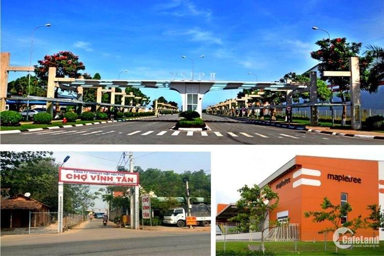 Đất nền trục chính Vĩnh Tân,giá 950 triệu,mt 25m dt 70-120m2,cam kết thanh khoản