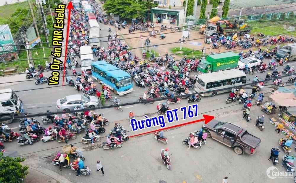 Bán lô đất mặt tiền chợ, đường 18m tiếp giáp thành phố Biên Hòa.