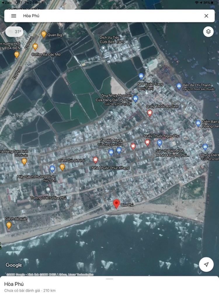 Bán lô đất mặt biển Hoà Phú full thổ cư giá cực hấp dẫn
