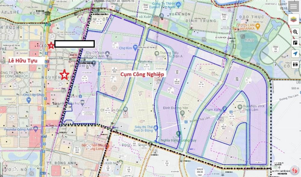 Bán 600m đất nhìn khu TĐC Nguyên Khê, xây nhà VP, Nhà Hàng, Khách Sạn gần KCN