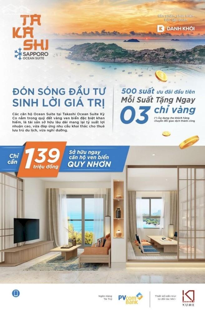 Sở hữu lâu dài căn hộ biển Takashi Ocean Suite Kỳ Co - sinh lời vượt trội