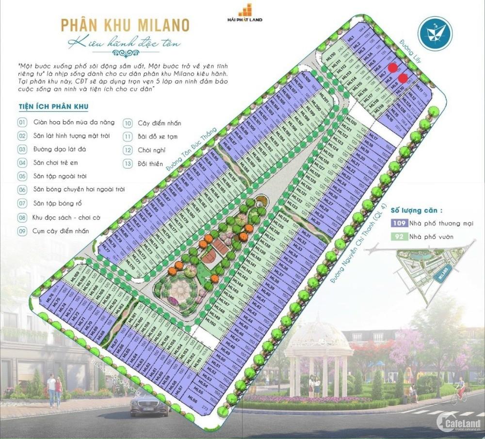 Căn 2 mặt thoáng duy nhất dự án Ecocity phân khu Milano giá 8 tỷ.