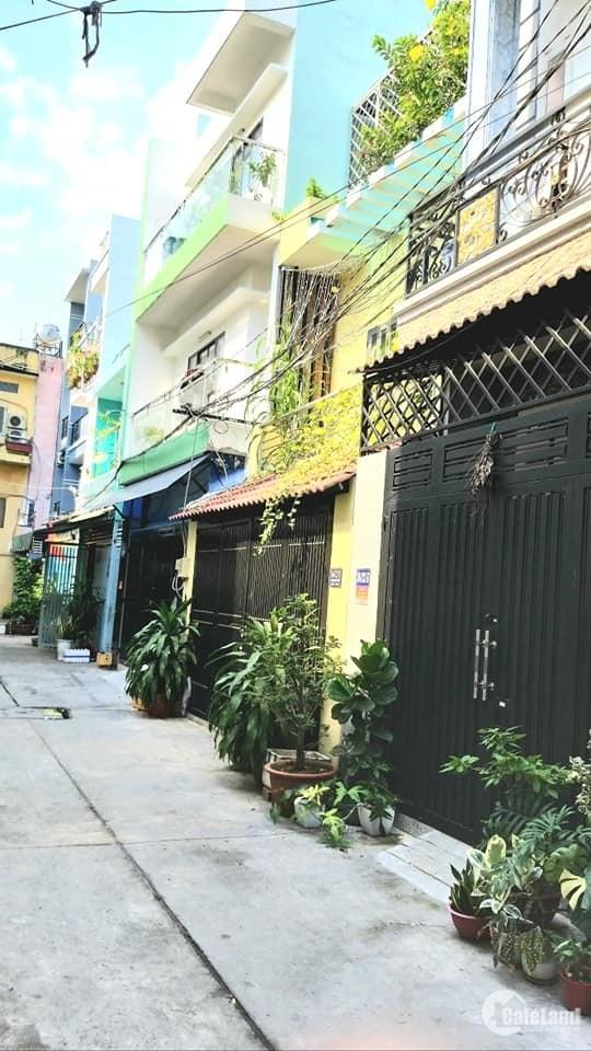 Nhà hẻm xe hơi Thoại Ngọc Hầu, khu vực xây 5 tấm, 4 x 15, giá rẻ.